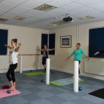 PIcture of Pilates small equipment group class balance work