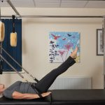 Picture of The Hundred Performed on the Pilates Reformer